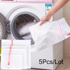 5 Zipped Wash Bag Net Laundry Washing Mesh Lingerie Underwear Bra Clothes Socks