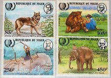 NIGER 1985 933-36 680-83 Intl. Year of Child ICY Fauna Wolf Lion Whale Novels **