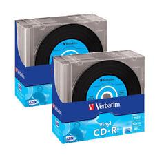 20 Genuino Verbatim Vinyl Cd-r 52x 700 MB 80 minutos en Blanco Discos de CD en Slim 43426