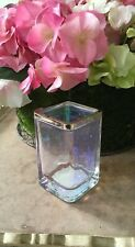 BELLA LUX IRIDESCENT GLASS BATH TOOTHBRUSH OR MAKEUP BRUSH HOLDER