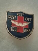 Authentic Beercan Insignia US Army 283rd Medical Detachment DUI Unit Crest