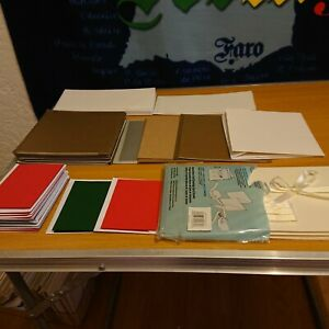 50 assorted sizes blank cards with envelopes single fold