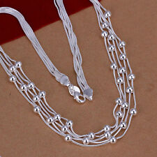 XMAS Wholesale sterling solid silver chic jewelry charm chain necklace BN739+box