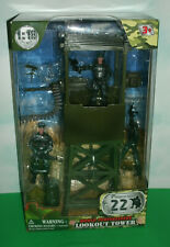 "1/18 Scale Army Lookout Tower w/ 3.75"" Action Figures - World Peacekeepers 77021"