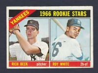 1966 Topps #234 Roy White / Beck New York Yankees rookie stars EX+ cond.