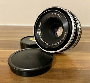 Carl Zeiss Jena 50mm f2.8 Tessar Lens (Zebra) M-42 Screw Mount With Caps
