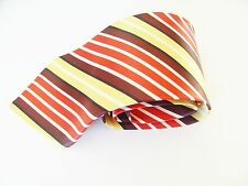 Firsite Multi Coloured Stripe Design Silk Mens Tie