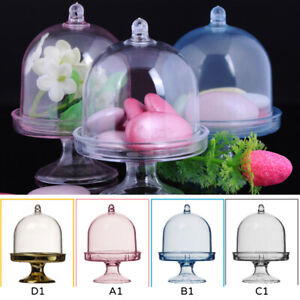 12Pcs/set Mini Cake Display Stand Cupcake Holder+Dome Cover Wedding Party Props