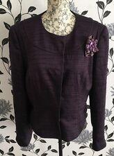Phase Eight Purple Jacket Blazer Size 14 Wedding Races Parties