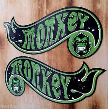 """2x Oldschool Sticker """"Hotwheels Monkey"""" Retro Tuning Aufkleber Biker Vintage JDM"""