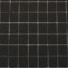 """CLARENCE HOUSE KNIGHTSBRIDGE CHARCOAL GRAY CHECK 100% WOOL FABRIC BY YARD 59""""W"""