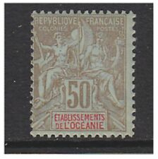 Oceanic Settlements - 1903, 50c Brown/Azure stamp - M/M - SG 20