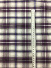 Poly Cotton  Multicolour Fabric Tartan Check Plaid 145 Cm Wide