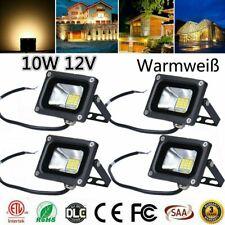 1-5 x 10W 12V LED Fluter Strahler Scheinwerfer 12 Volt Warmweiß Außen Flutlicht