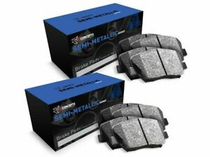 For 1990 Lincoln Continental Front and Rear R1 Semi-Met Series Brake Pads
