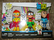 TEEN TITANS GO! FACE SWAPPERS 3 PACK FIGURE SET KID FLASH ROBIN AQUALAD 2018