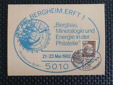 BUND MK 1982 854 BERGBAU BAGGER MINING BERGHEIM CARTE MAXIMUM CARD MC CM c5149