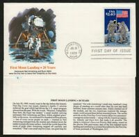 1989 Moon Landing 20th Anniversary $2.40 Sc 2419 Fleetwood