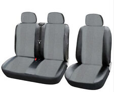 Seat Cover Covers Faux Leather Grey Black New for Renault Master Transporter