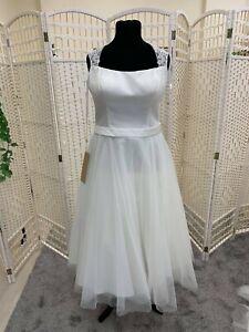 BNWT Special Day Bridal ivory wedding dress size 18 NEW tea length