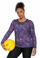 FULLBEAUTY SPORT PEACHED ACTIVE SCOOP NECK LONG SLEEVED TEE WOMENS PLUS 22/24