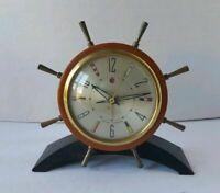 Vintage 1951 Seth Thomas Rudder Ships Wheel Electric Alarm Clock