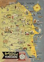 B100108 north east  riding of yorkshire map cartes geographiques  uk