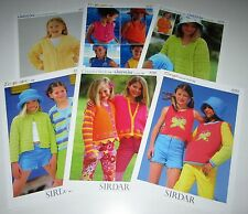 Lot of 6 Sirdar Dk Knitting yarn patterns for Babies and Children ages 2 -14 yrs