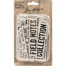 Tim Holtz Idea-ology Chipboard Quote Chips 58pcs - Word & Phrases TH93563