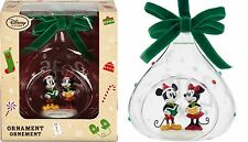 Mickey and Minnie Mouse Glass Sketchbook Ornament ~DATED 2016~ Limited Edition