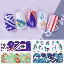 4x Nail Art Water Decal Stickers Ocean Mermaid Pattern Transfer Paper Decoration