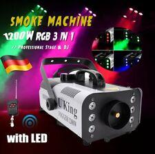 1200W Nebelmaschine RGB 6 LED DJ Party Fog Smoke Nebel Rauchmaschine mit Remote