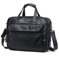 """Real Leather Mens 15"""" Laptop Briefcase Shoulder Messenger Bag Satchel Handbag"""