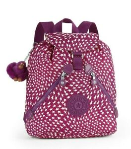 Kipling BUSTLING Medium Sized Drawstring Backpack - Star Swirl