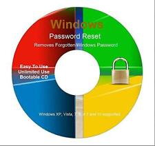 Windows XP VISTA 7 8 Password Recovery Reset Remove Recover CD Disc