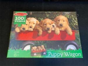 New Sealed Melissa & Doug Puppy Wagon 100 Piece Jigsaw Puzzle