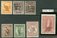More details for sg j1-j7 bcof 1946-7 ½d to 5/-. a pristine unmounted mint set of 7 values...
