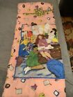 """The Babysitters Club Promotional VINTAGE zip up Sleeping Bag 30"""" x 67""""  90s"""