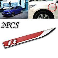 3D Metal R - Logo Car Side Fender Skirts Knife Badge Emblem Sticker For VW Golf