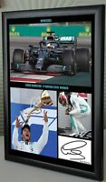 """Lewis Hamilton Wins Russia 2019 F1 A4 Framed Canvas Signed Print """"Great Gift"""" #2"""