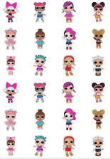 24 PRECUT Edible LOL Dolls Cupcake Fairy Cake Decoration Wafer Toppers