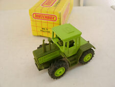 1992 MATCHBOX SUPERFAST MB 73 MERCEDES-BENZ MB-TRAC 1600 TURBO TRACTOR NEW IN BO