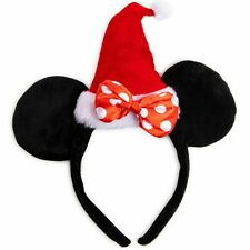 Disney Minnie Mouse Christmas Ears Headband Santa Bow Holiday Girls Teens Age 3+