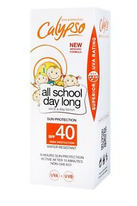 Calypso All School Day Long | SPF 40 | 8 hours protection | Kids Sunscreen