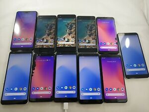 LOT of 11 Google Pixel 2 3/XL 3A/XL 64/128GB GSM Unlocked Smartphone A069L