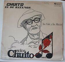 Chuito El De Bayamon Su Vida Y Su Musica ANSONIA VG LP #3950