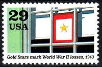 USA postfrisch MNH Gold Star Orden Ehre Militär Armee Weltkrieg 2 1943 / 39
