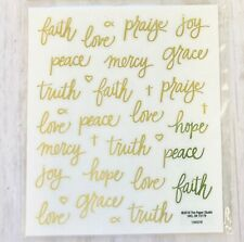 2 Sheets Gold Religious Inspirational Words Faith Stickers Papercraft Planner