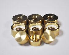 Carol Brass Trumpet Trim Kit Medium Caps. KGUBrass. Raw Brass. TKMB109