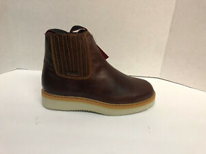 Men's Work Boots/Booties/Botin Pull On Leather oil slip resistant Free Shipping!